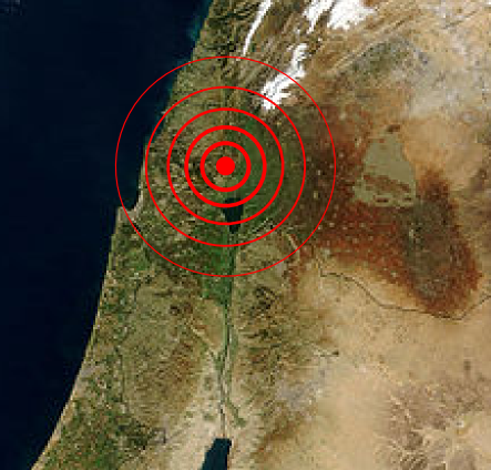 1837 Galil earthquake epicenter