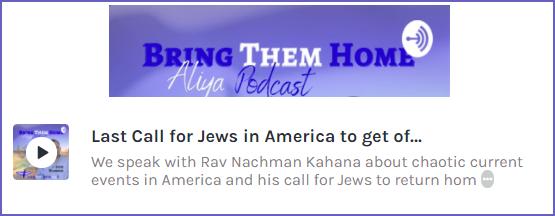 Podcast: Last Call for Jews in America!