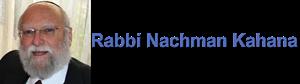 Rabbi Nachman Kahana