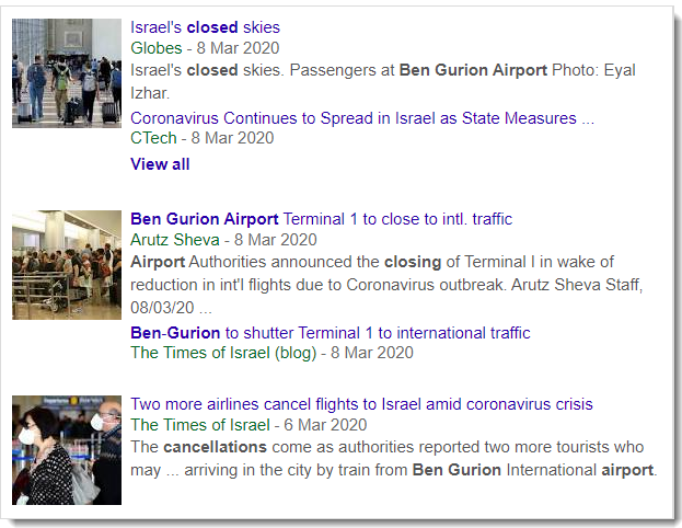 Israel closes borders
